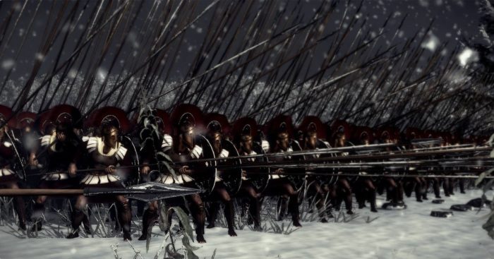 A classic phalanx formation screenshot Rome 2 Total War.